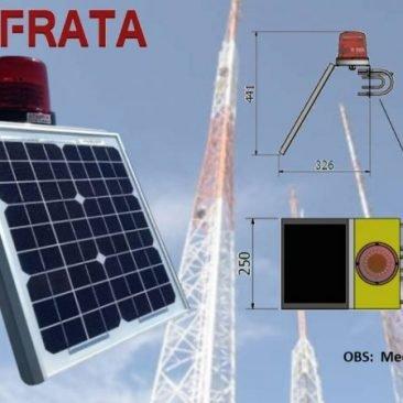 Sinalizador de Torres e Prédios Via Energia Solar